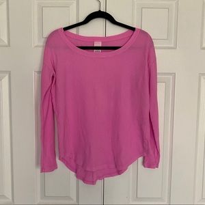 PINK Victoria's Secret Hot Pink Waffle Long Sleeve
